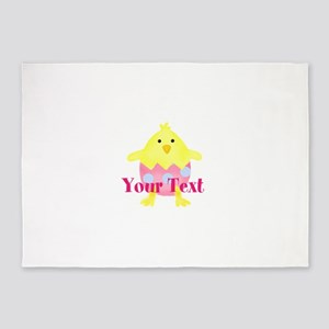 Personalizable Easter Chick 5'x7'Area Rug