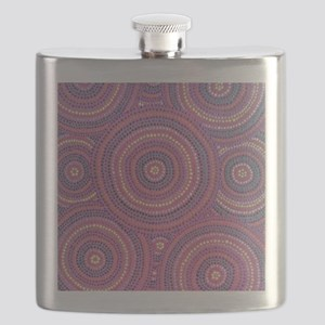 Pink Dotting Flask
