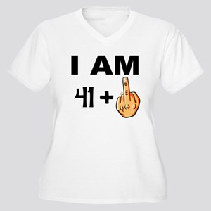Middle Finger 42nd Birthday Plus Size T-Shirt