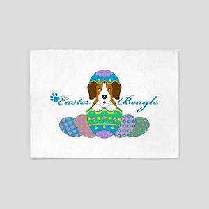 Easter Beagle 5'x7'Area Rug