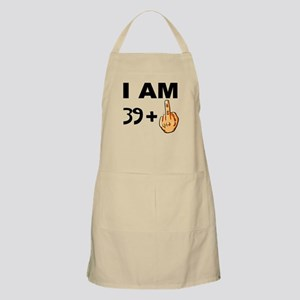 Middle Finger 40th Birthday Apron