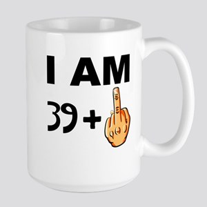 Middle Finger 40th Birthday Mugs