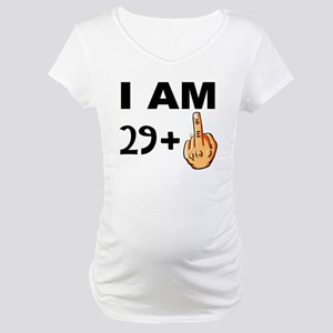 Middle Finger 30th Birthday Maternity T-Shirt