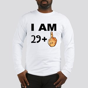 Middle Finger 30th Birthday Long Sleeve T-Shirt