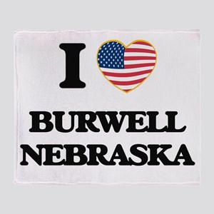 I love Burwell Nebraska Throw Blanket