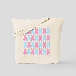 Pink and Blue Bunny Rabbits Tote Bag