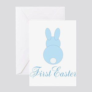 First Easter Blue Bunny Greeting Cards
