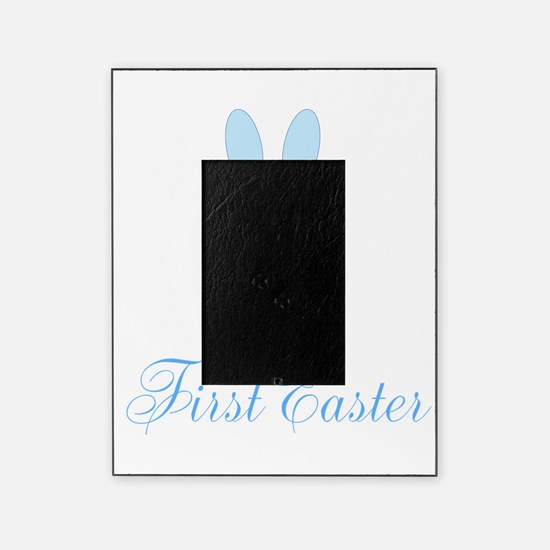 First Easter Blue Bunny Picture Frame