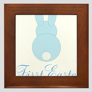 First Easter Blue Bunny Framed Tile