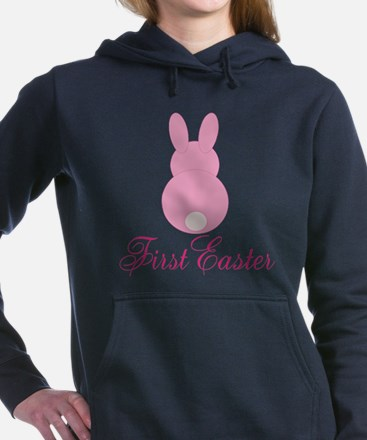 First Easter Pink Bunny Women's Hooded Sweatshirt