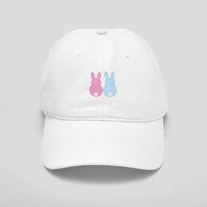 Pink and Blue Bunny Rabbits Baseball Cap