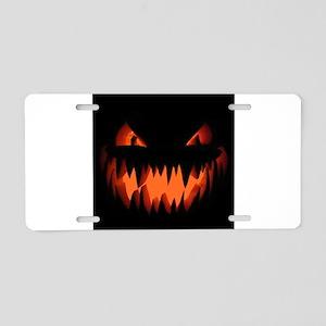 Halloween Jack-o-lantern / Pumpkin Aluminum Licens