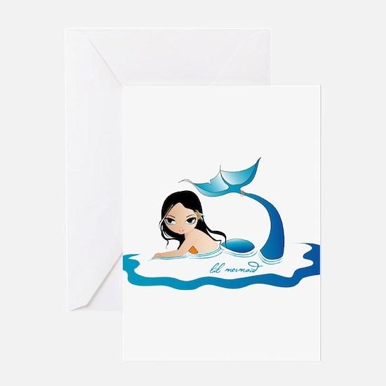 lil mermaid Greeting Card