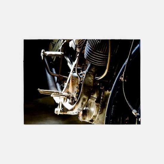 1936 Motorcycle Racer 5'x7'area Rug