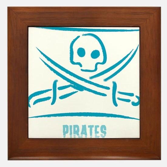 Blue Pirate Framed Tile