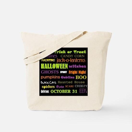 Halloween Subway Art Tote Bag