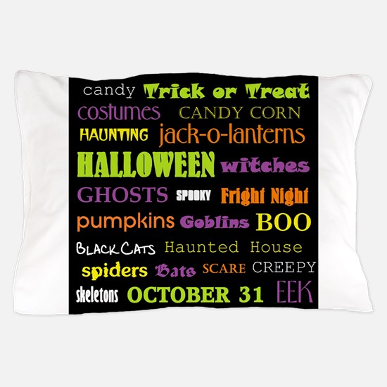 Halloween Subway Art Pillow Case