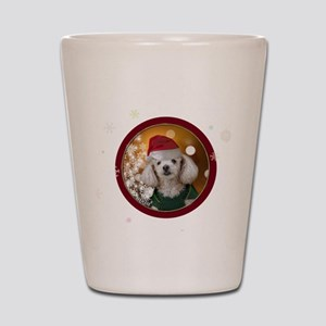 Christmas Toy Poodle Shot Glass