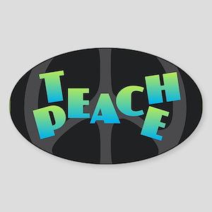 Teach Peace - Blue Green Sticker