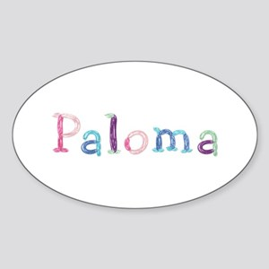 Paloma Princess Balloons Oval Sticker