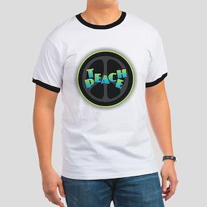 Teach Peace - Blue Green T-Shirt
