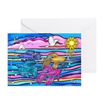 Siamese Betta Fish Greeting Cards (pk Of 10)