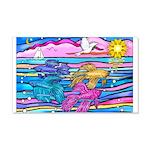 Siamese Betta Fish 20x12 Wall Decal