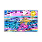 Siamese Betta Fish 35x21 Wall Decal