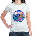 Siamese Betta Fish Jr. Ringer T-Shirt