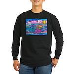 Siamese Betta Fish Long Sleeve Dark T-Shirt