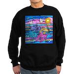 Siamese Betta Fish Sweatshirt (dark)