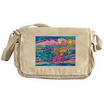 Siamese Betta Fish Messenger Bag