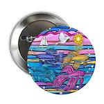 """Siamese Betta Fish 2.25"""" Button"""