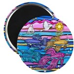 "Siamese Betta Fish 2.25"" Magnet (10 Pack) Mag"