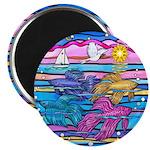 "Siamese Betta Fish 2.25"" Magnet (100 Pack) Ma"