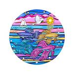 Siamese Betta Fish Button
