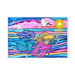 Siamese Betta Fish Mini Poster Print
