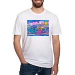 Siamese Betta Fish Fitted T-Shirt