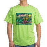 Siamese Betta Fish Green T-Shirt