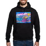 Siamese Betta Fish Hoodie (dark)