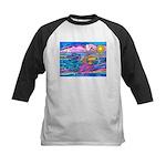 Siamese Betta Fish Kids Baseball Jersey