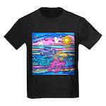 Siamese Betta Fish Kids Dark T-Shirt