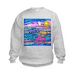 Siamese Betta Fish Kids Sweatshirt