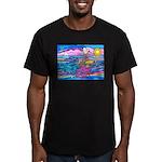 Siamese Betta Fish Men's Fitted T-Shirt (dark)