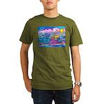 Siamese Betta Fish Organic Men's T-Shirt (dark)
