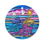 Siamese Betta Fish Ornament (Round)