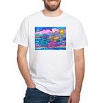 Siamese Betta Fish White T-Shirt