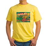 Siamese Betta Fish Yellow T-Shirt