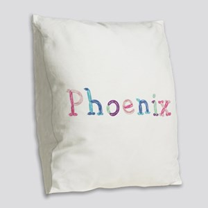 Phoenix Princess Balloons Burlap Throw Pillow