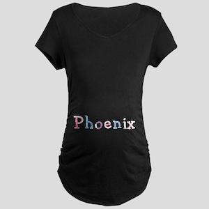 Phoenix Princess Balloons Maternity Dark T-Shirt
